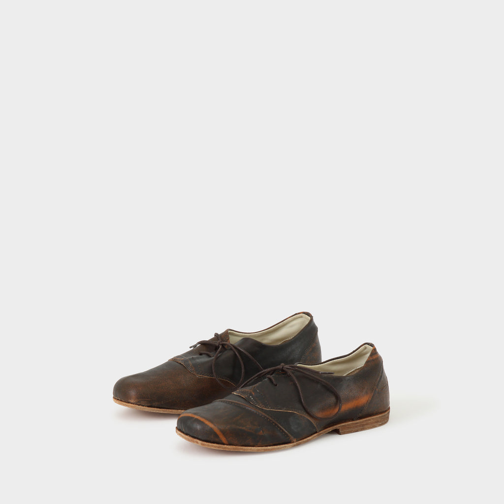 Geoffrey B Small Handmade Brown Recycled Leather Oxford