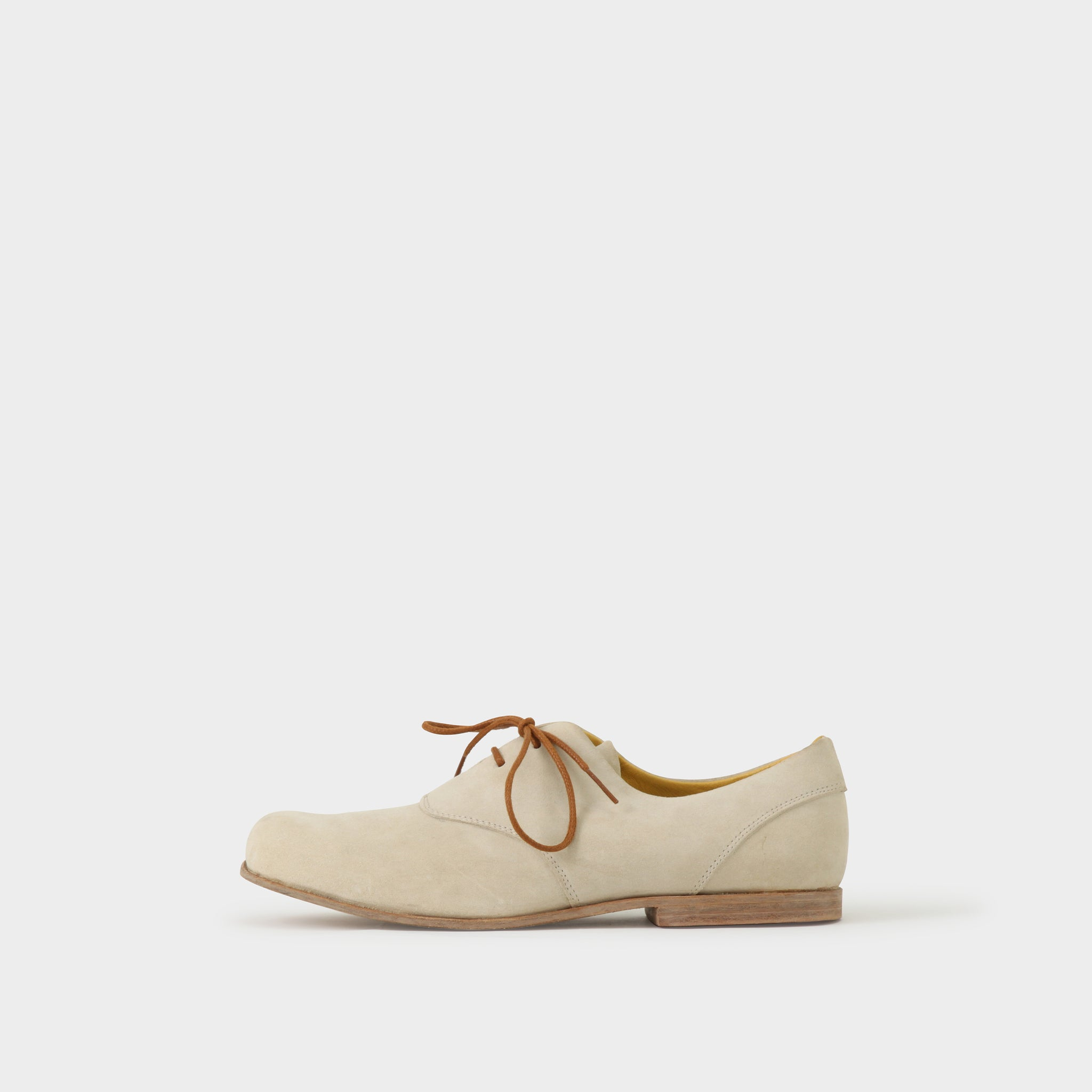 Geoffrey B Small Handmade White Nubuck Lace-up Oxford