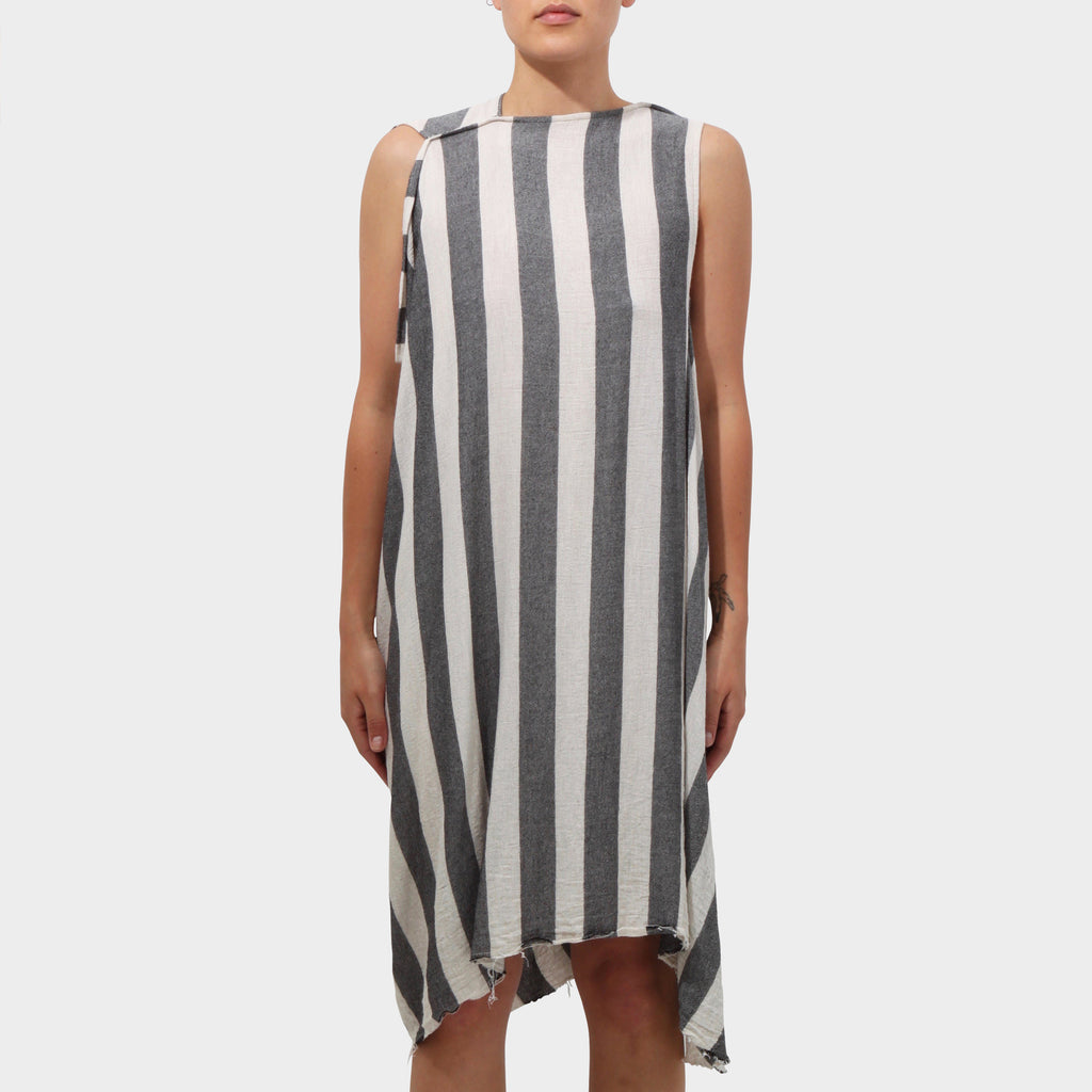 Lost and Found Vertical Striped Wool Sleeveless Dress