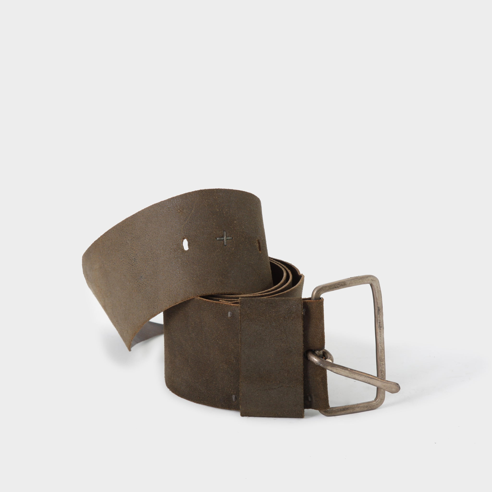 MA+ Rectangle Brown Buckle Belt