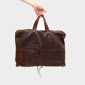 M.A + BISON LEATHER TRAVEL BAG