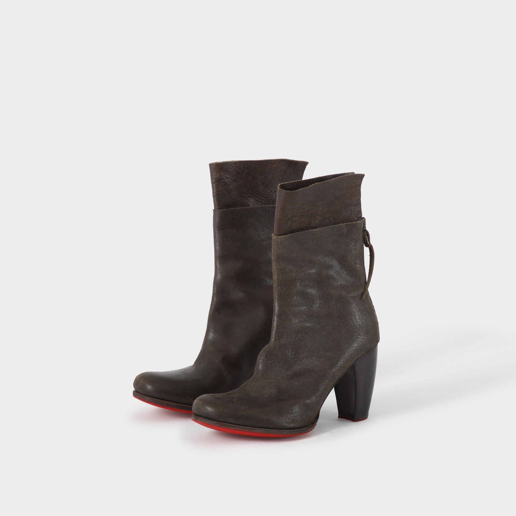 MA+ Back zip Heeled Boot