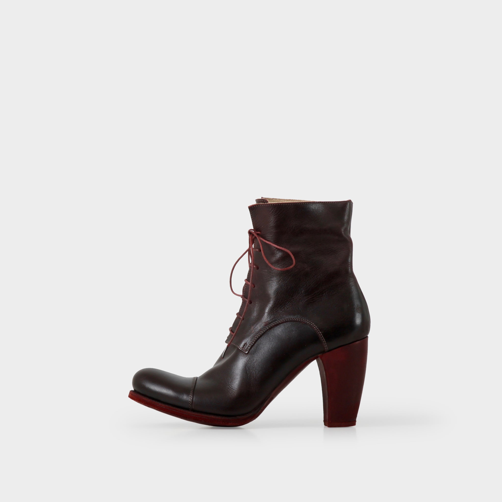 MA+ Oxblood Laceup Heeled Boots