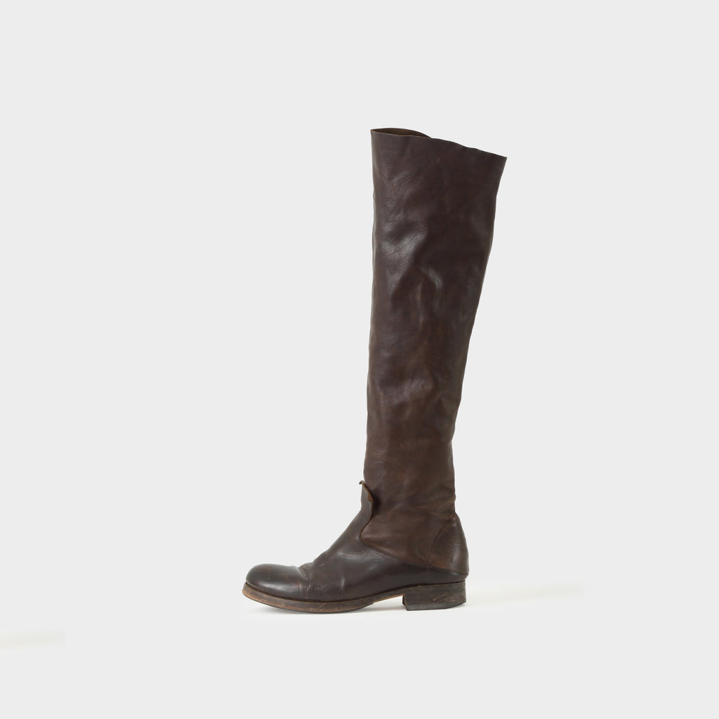 MA+ Deconstructed High Leather Riding Boots