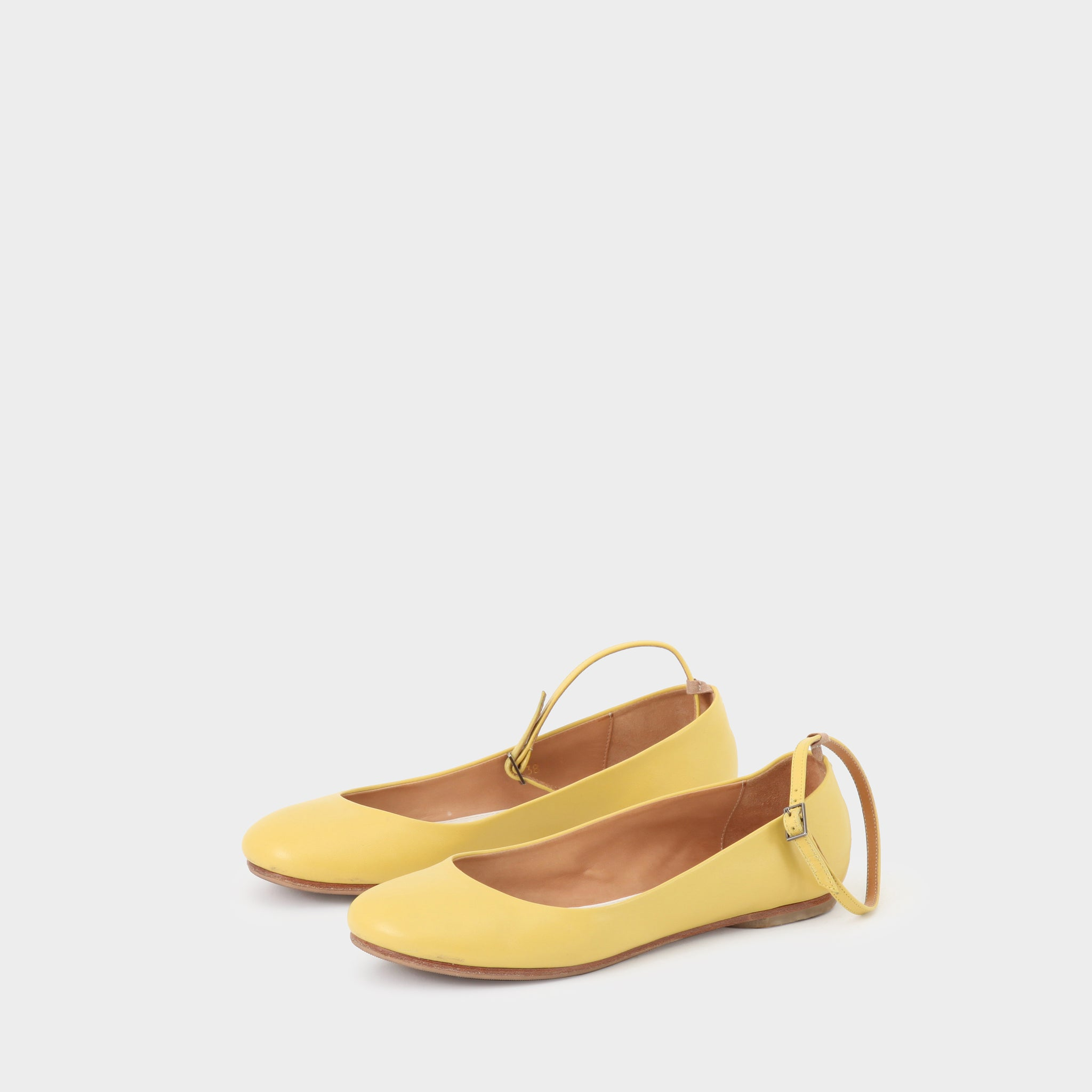 Margiela Canary Yellow Ballet Flat with Ankle Strap