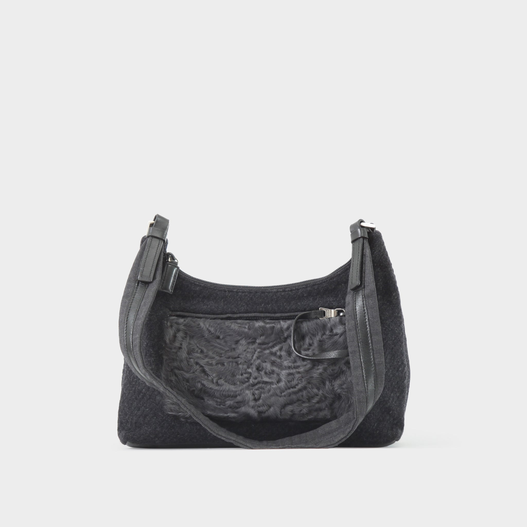 Prada Black Wool Bag