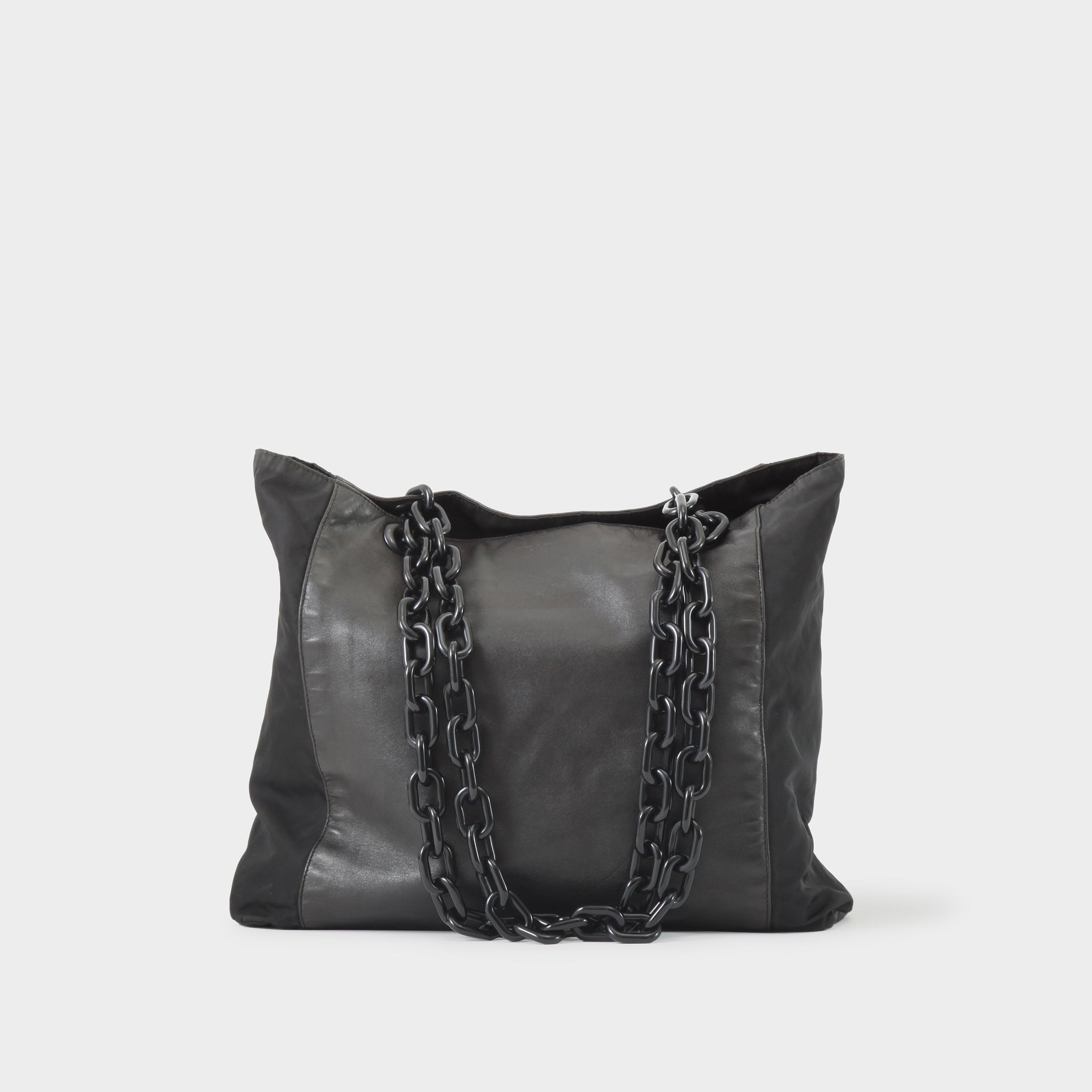 Prada Vintage Leather Panelled Chain Tote