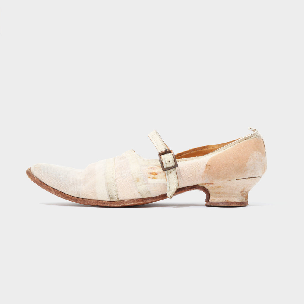 Paul Harnden Distressed Linen Buckle Strap Shoes