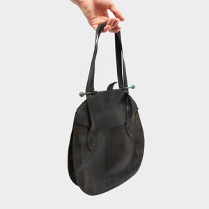 P.R. PATTERSON HAND-DYED LEATHER HANG BAG
