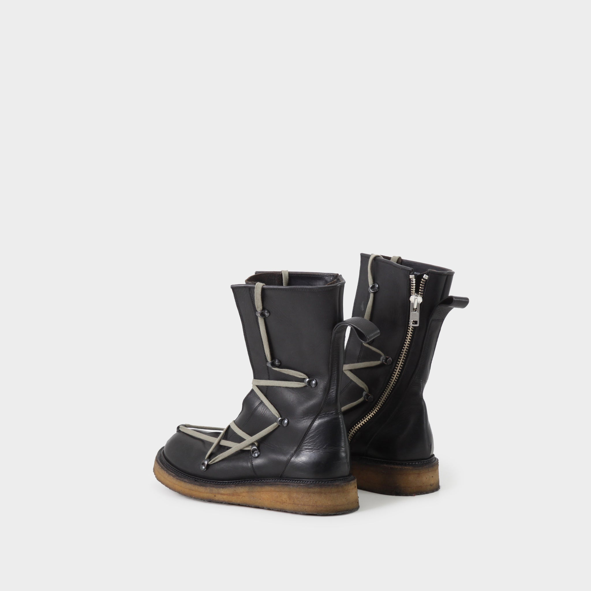 Rick Owens Pentagram Laced Creeper Boots