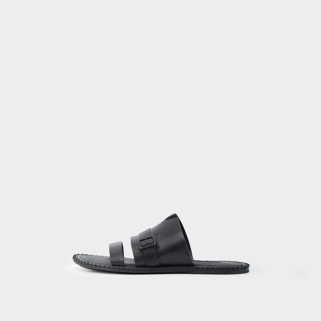 Ann Demeulemeester Leather Double Strap Buckled Sandals