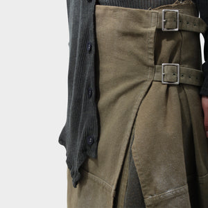 Comme des Garçons Sprayed Wrapped buckled skirt