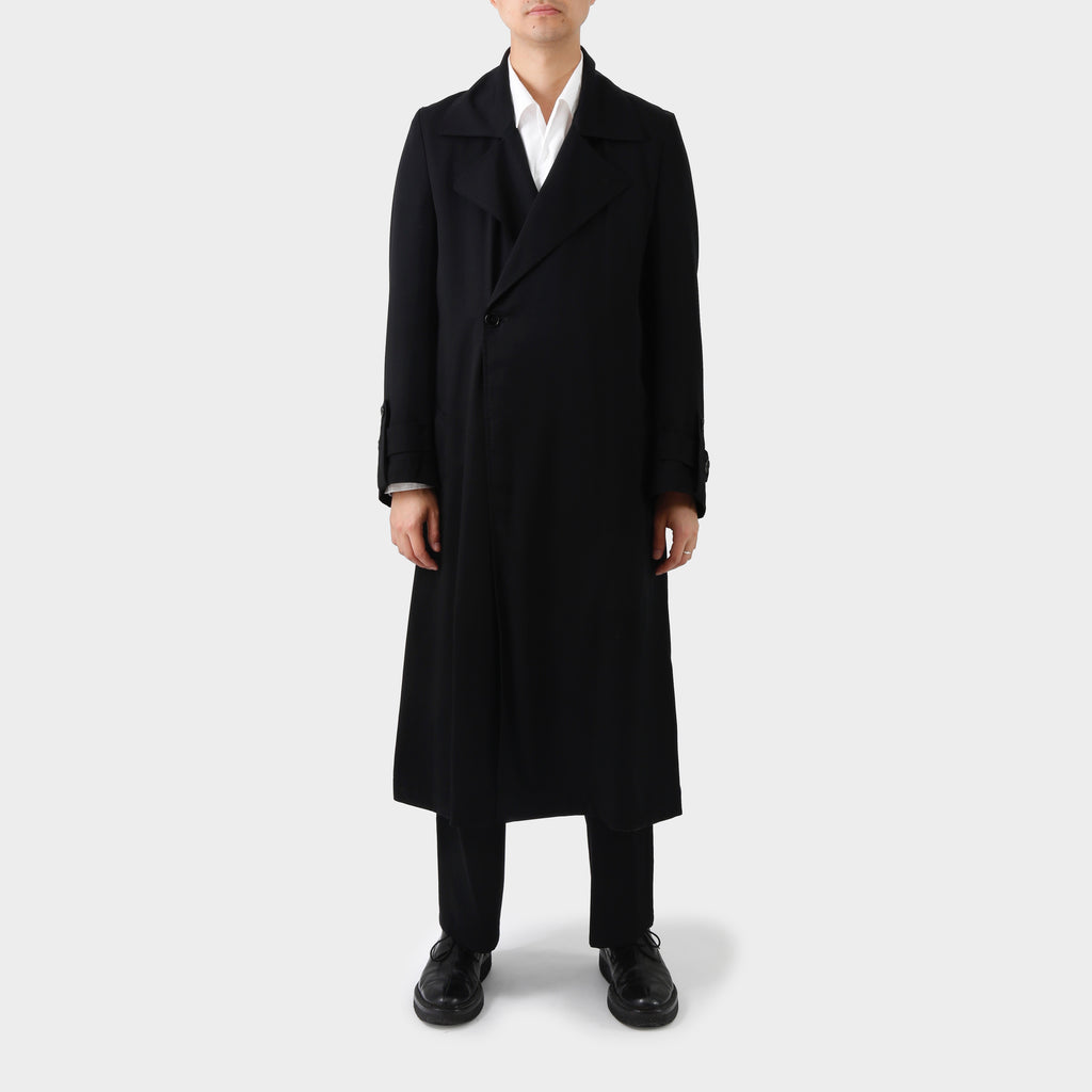 Ground Y Black Tencel Coat