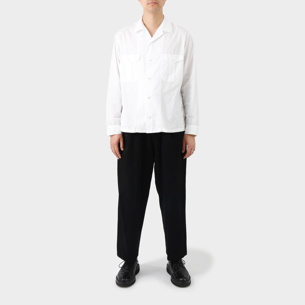 Y's for Men Camp Collar White Shirt