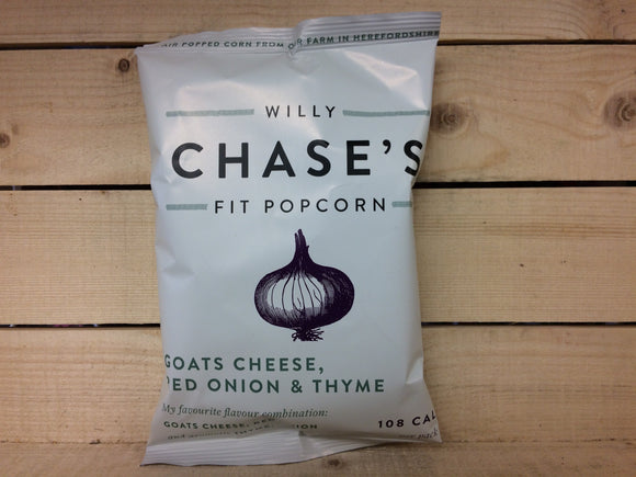 Willy Chase's Fit Popcorn Goats Cheese, Red Onion & Thyme (20g)