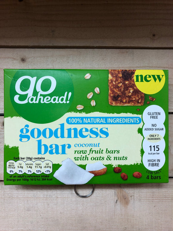 Goodness Bar 4x30g Coconut & Raw Fruits