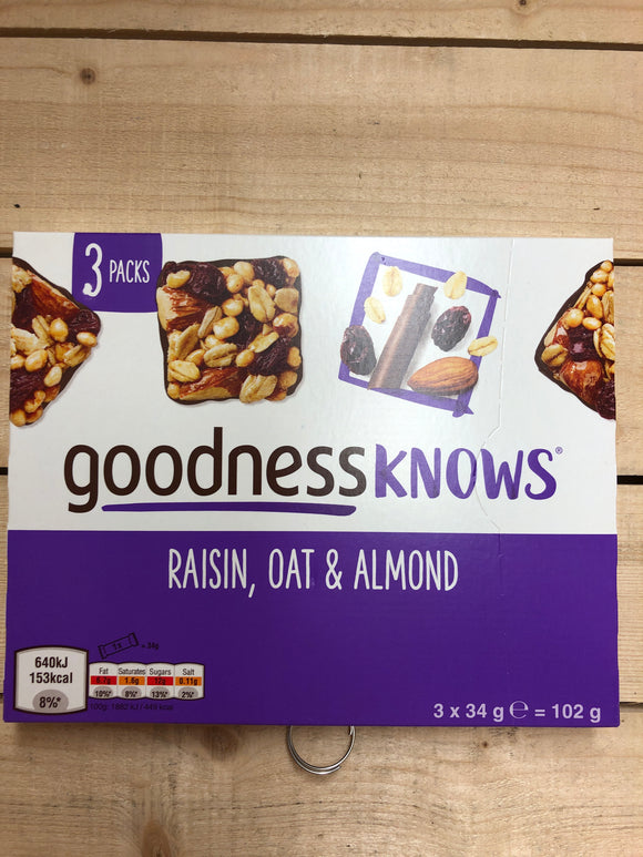 Goodness Knows Raisin, Oat & Almond 3 Pack