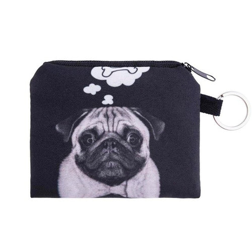 Dreaming Pug Zipper Wallet - valutispetstore