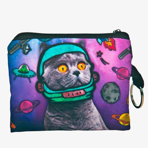 Space Cat Zipper Wallet - valutispetstore