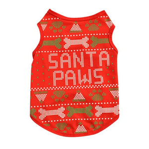 Santa Paws Small Pet Shirt - valutispetstore