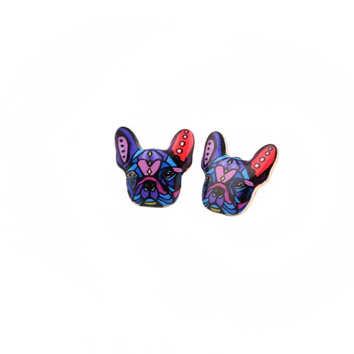 Colorful Bulldog Earrings - valutispetstore