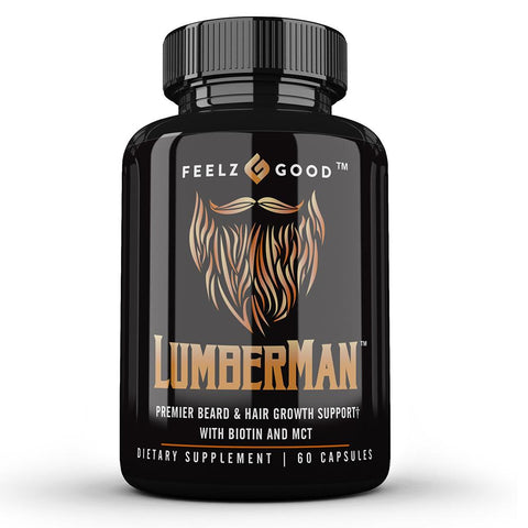 LUMBERMAN™ Premier Beard Growth Vitamin Formula | Biotin 10,000 mcg |