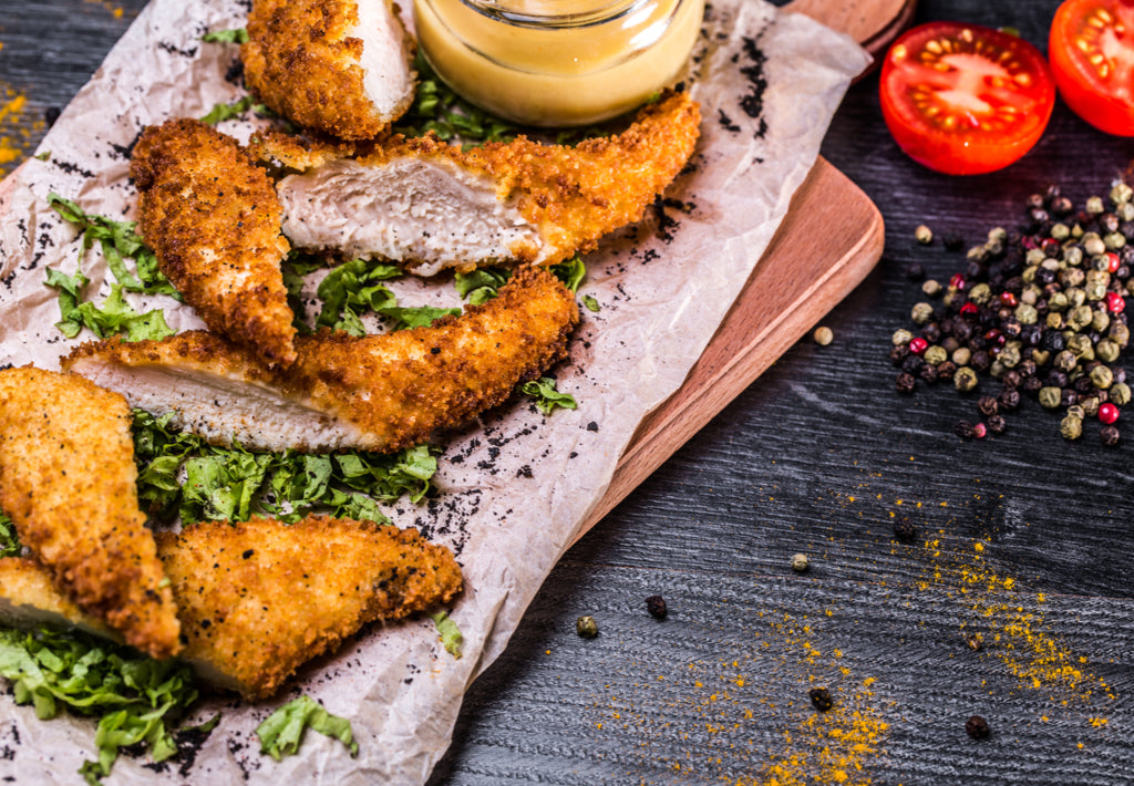 Gluten Free Breaded Chicken Strips with Garlic Mayo Recipe