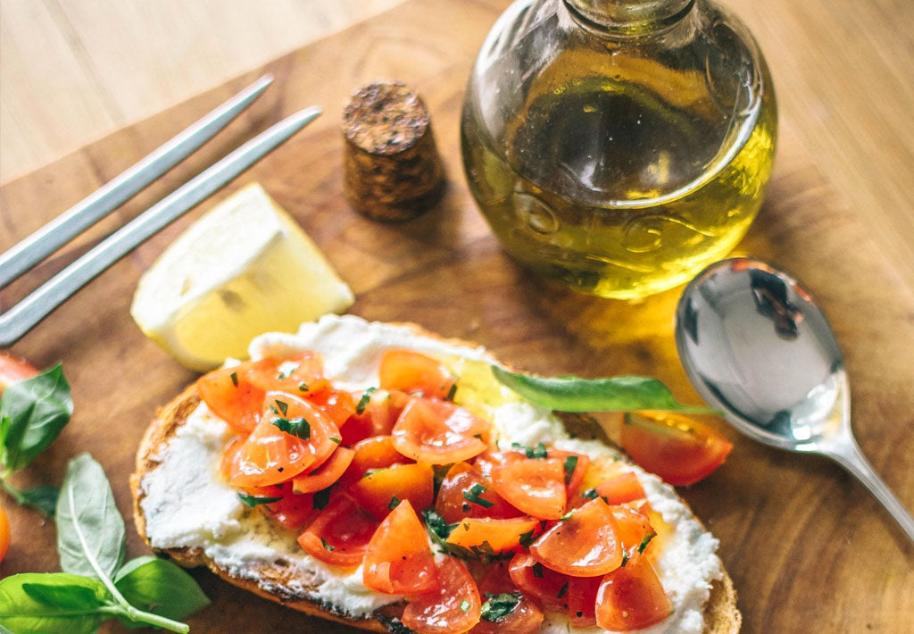 Gluten Free Tomato & Cream Cheese Bruschetta Recipe