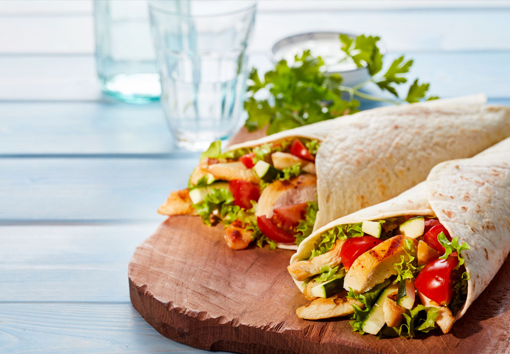 Gluten Free Tortillas with Chicken, Tomatoes & Basil Pesto Recipe