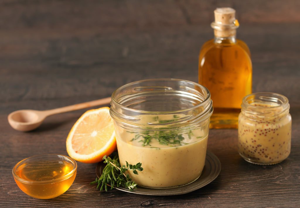 Gluten Free Honey & Mustard Salad Dressing