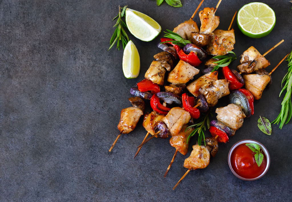 Gluten Free Honey and Sesame Chicken Skewers Recipe