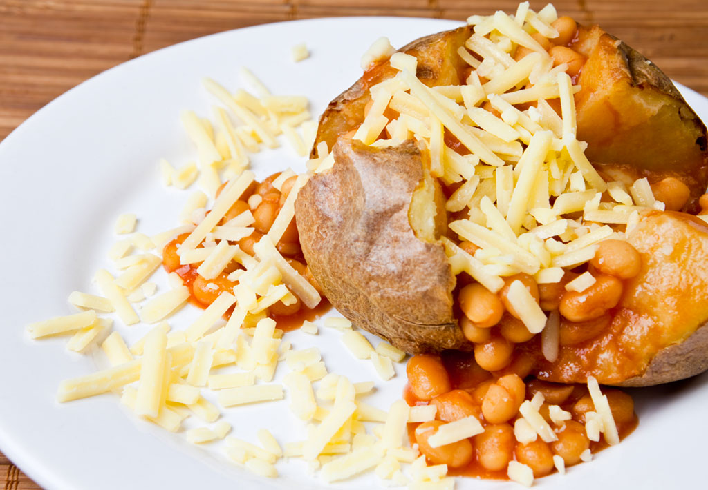 Gluten Free Jacket Potato With Baked Beans And Cheese