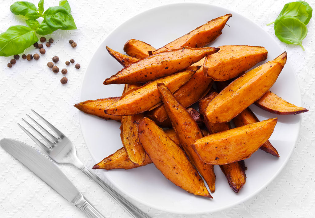 Gluten Free Lightly Spiced Sweet Potato Wedges Recipe