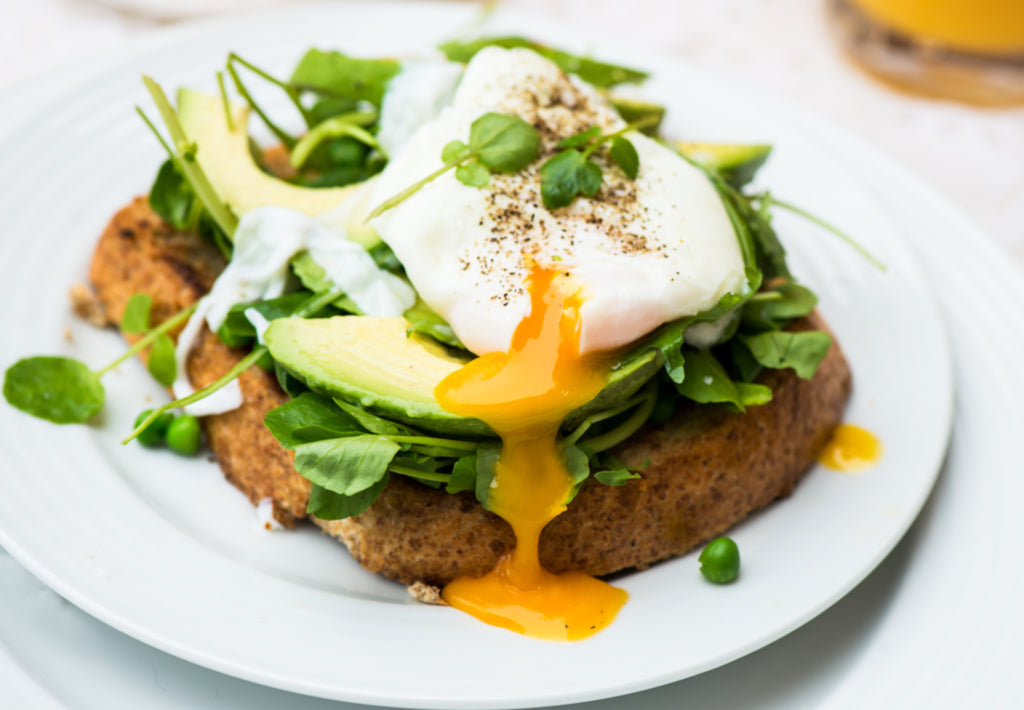 Gluten Free Poached Egg with Spinach, Avocado and Gluten Free Toast