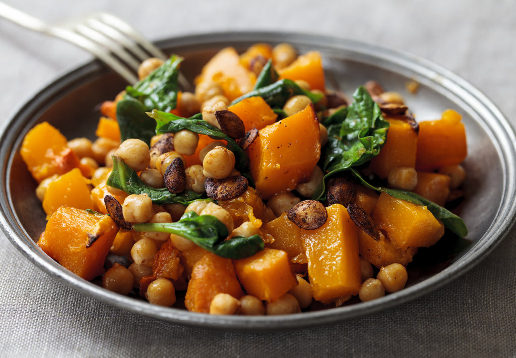Gluten Free Roasted Butternut Squash & Chickpea Salad