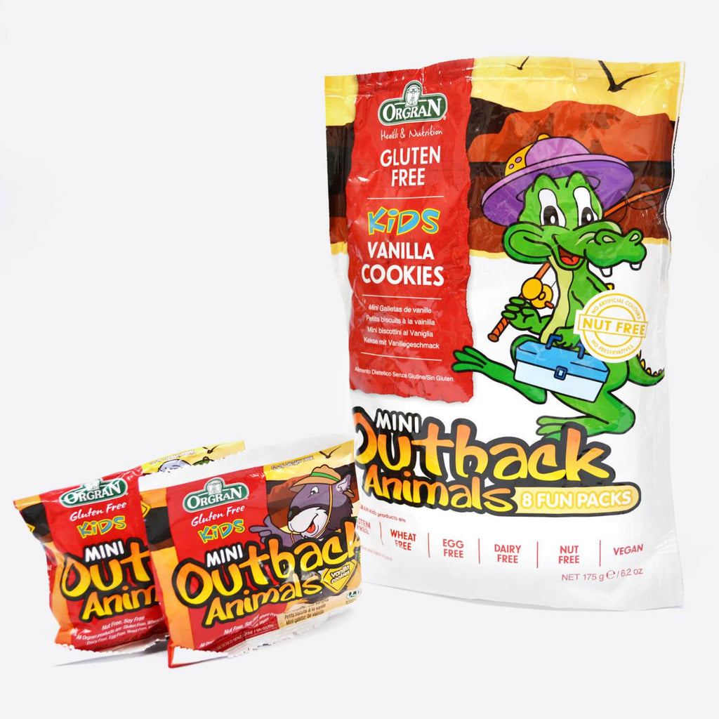 Mini Outback Animal Gluten Free Kids Vanilla Cookies - 8pk