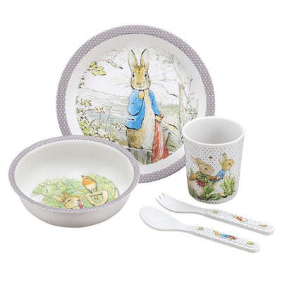 Peter Rabbit 5 Piece Gift Set in Taupe