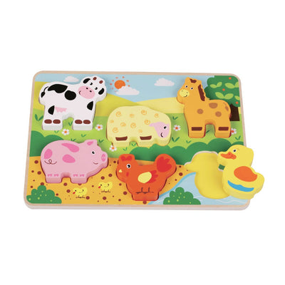 Inside Out Toys Wooden Chunky Farm Puzzle