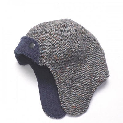 Ruth Lednik Tweed Aviator Reversible Hat