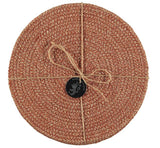 Jute Placemats In Brick Dust Natural, Tied Set Of 4 - Fly Jesse- Unique, special and quality gifts