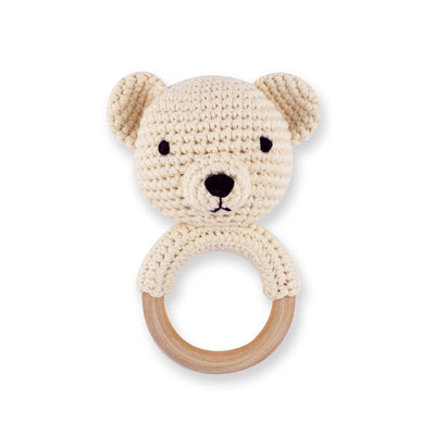 Imajo Handcrafted Crochet Ring Rattle Teddy