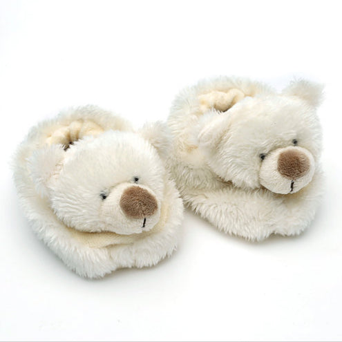Cream Bear Baby Slippers Aged 0-6 Months - Fly Jesse- Unique, special and quality gifts