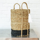 Bian Black Tassel Basket - Tall - Fly Jesse- Unique, special and quality gifts