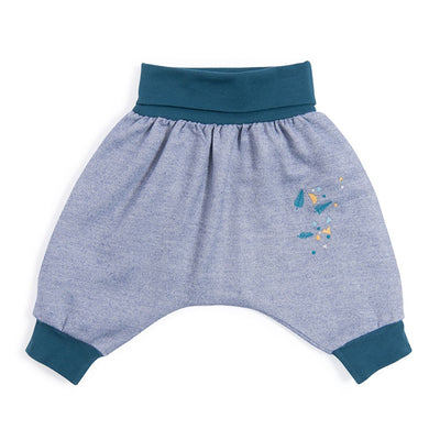 Moulin Roty Azouly Light Blue Harem Trousers