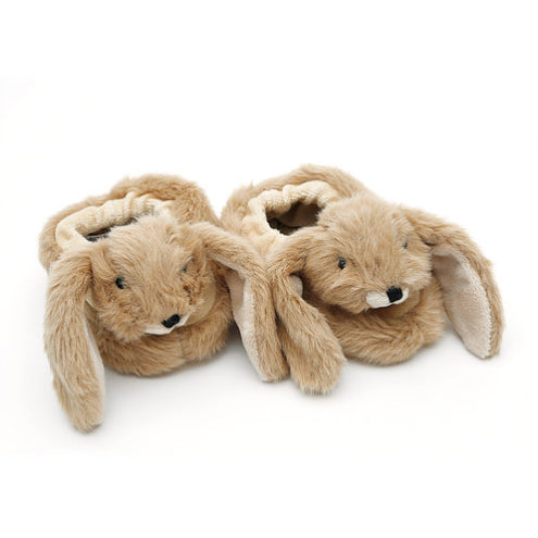 Brown Bunny Baby Slippers Aged 0-6 Months - Fly Jesse