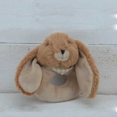 Brown Bunny Baby Rattle - Fly Jesse- Unique, special and quality gifts