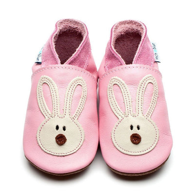 Inch Blue Baby Pink & Cream Flopsy Shoes - GRIPZ Rubber Soul