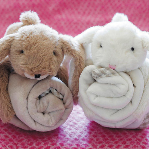 Cream Bunny Toy Baby Soother - Fly Jesse- Unique, special and quality gifts