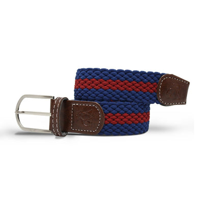 Swole Panda Blue & Burgundy Stripe Woven Belt