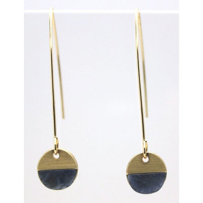 Sodalite Hoop Earrings - Gold Colour - Fly Jesse- Unique, special and quality gifts